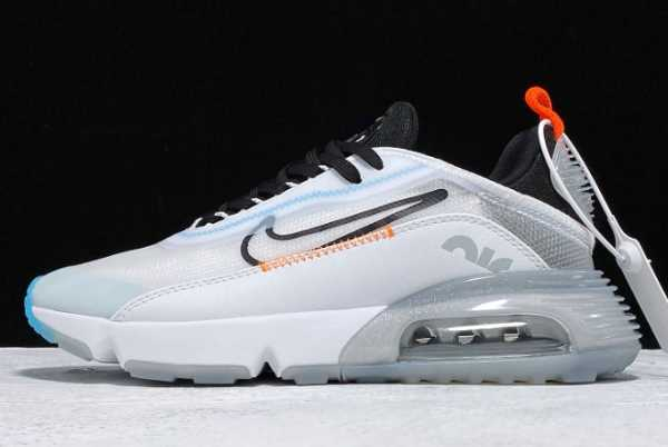 CQ7630-101 Nike Air Max 2090 White/Black-Orange-Teal Bule For Sale