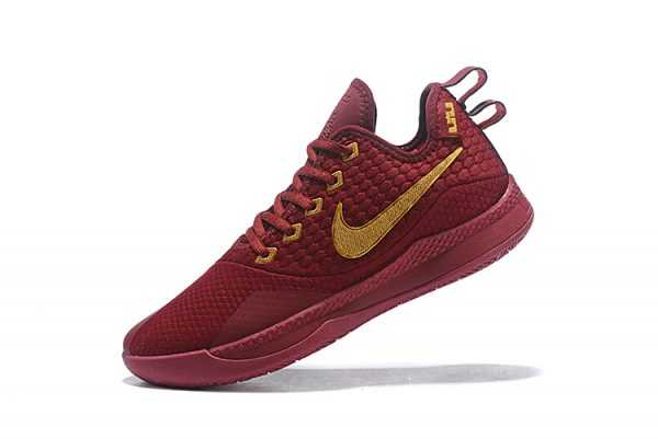 Nike Lebron Witness 3 Red Wine/Metallic Gold On Sale