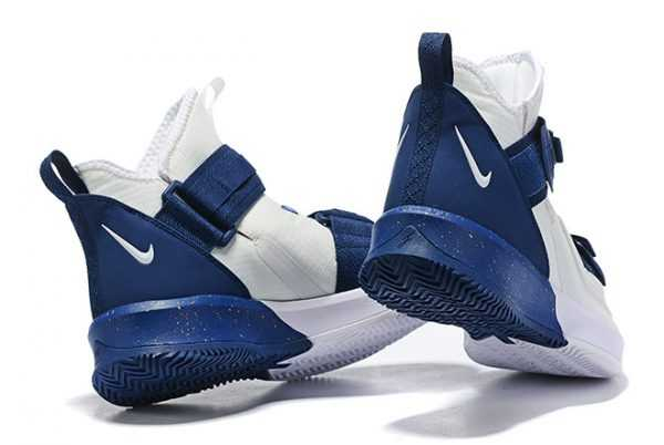Nike LeBron Soldier 13 White/Navy Blue Men's Size 7-12