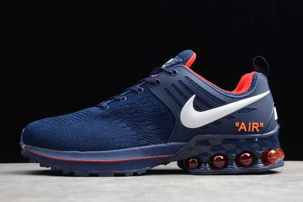 524977-509 Mens Nike Air Max 2019 Footwear Deep Blue White Red For Sale