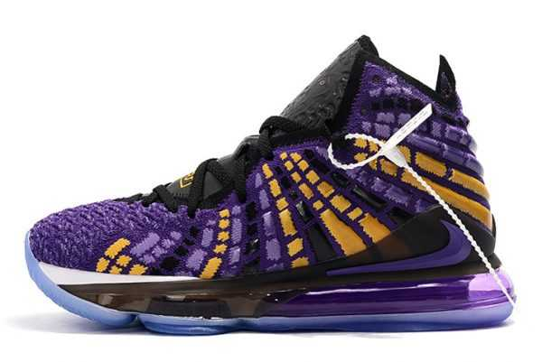New Release Nike LeBron 17 Black Purple-Yellow Sneakers