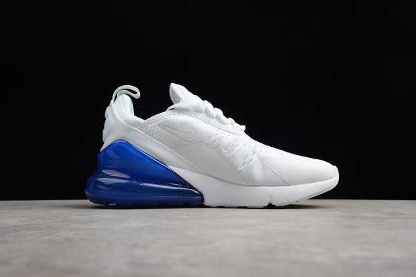 2018 Men's and Women's Nike Air Max 270 White Photo Blue For Sale