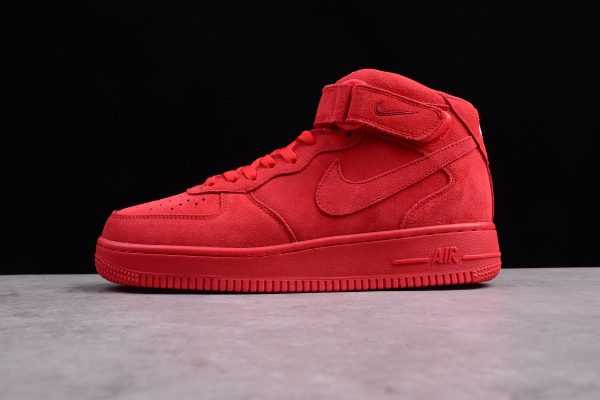"Mens and WMNS Nike Air Force 1 Mid ""Gym Red"" 315123-609"