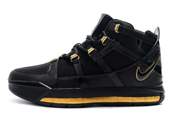 "Nike LeBron 3 ""Black/Gold"" For Sale AO2434-001"