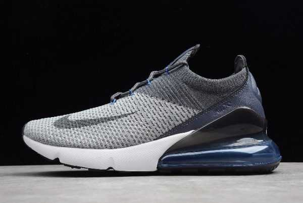 Nike Air Max 270 Flyknit Light Grey/Dark Grey-White Mens Sale