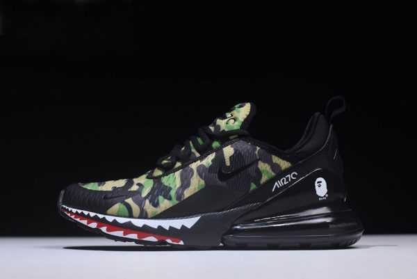 "BAPE x Nike Air Max 270 ""Camo"" Mens Running Shoes AH6799-003"