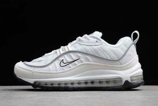 2018 Nike Air Max 98 White/Reflective Silver AH6799-103