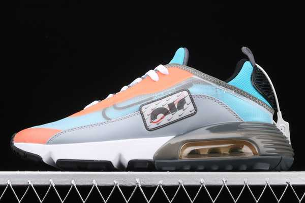 CQ7630-400 Nike Air Max 2090 LT.Grey Blue/Orange-White For Sale