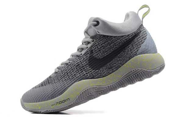 Nike Hyperrev 2017 Grey/Black-Green Men's Basketball Shoes
