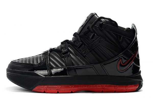 Men's Nike LeBron 3 Black/Varsity Crimson New Release