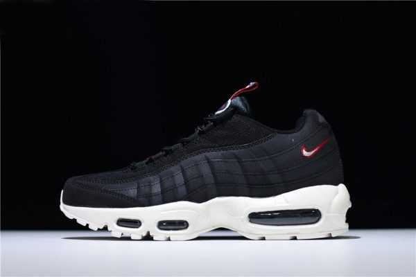 "Nike Air Max 95 ""Pull Tab"" Black/Sail-Gym Red AJ1844-002"