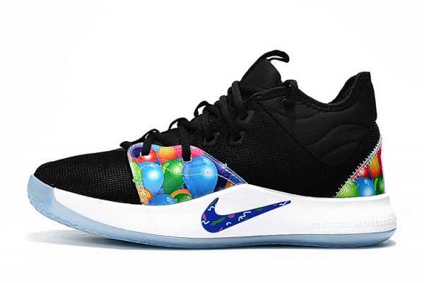 Nike PG 3 Black/Multi-Color On Sale