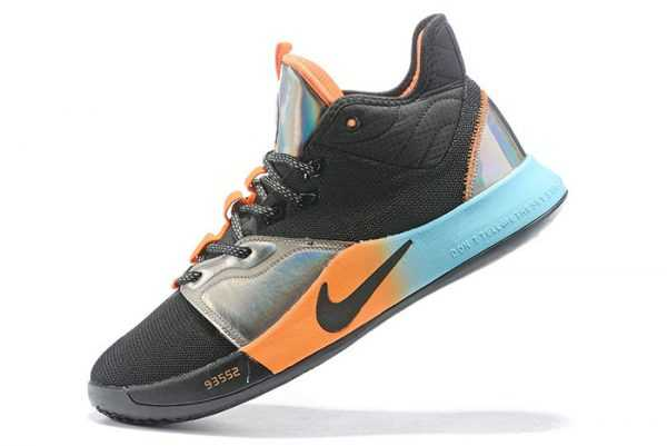 Nike PG 3 Black/Orange-Silver-Blue On Sale
