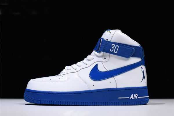 "Men's and Women's Nike Air Force 1 High Sheed ""Rude Awakening"" White/Blue Jay AQ4229-100"