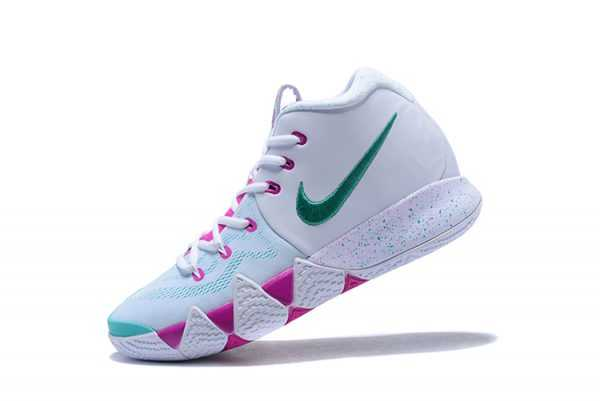 2018 New Nike Kyrie 4 White/Pink-Mint Green Sale