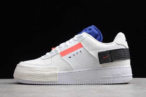 Nike Air Force 1 Low AF-1 Type Summit White/Red Black Online CI0054-100