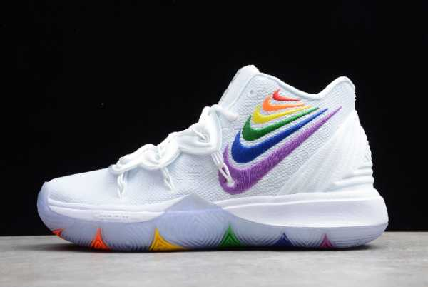 CH0521-117 Mens Nike Kyrie 5 BeTrue EP Rainbow Multi Color For Sale