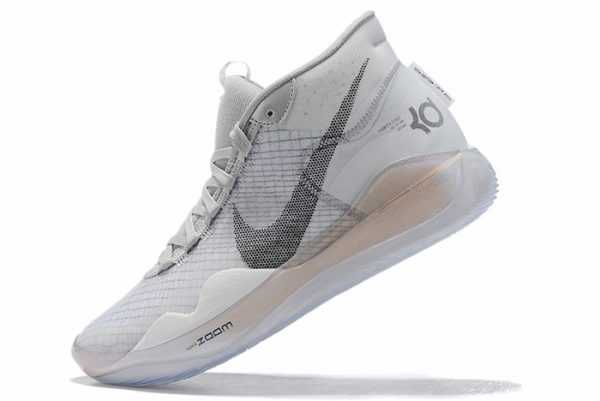 Nike KD 12 White Black-Wolf Grey For Sale AR4229-101